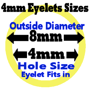 4mm Size eyelet diagram