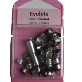 Black Colour Eylets with fitting hand tools