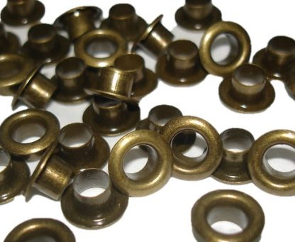 5mm antique brass metal eyelets