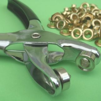 Pliers used to fit eyelet rings to materials