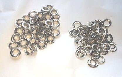 10mm Silver Eyelets