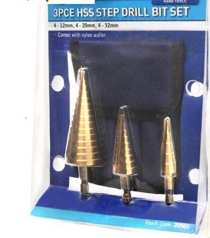 step drill bits