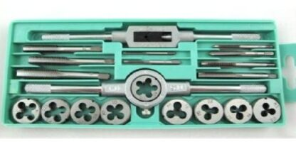 metric tap and die set for repairing bolt threads
